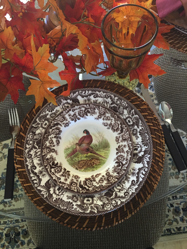 Pheasant on a dinner plate