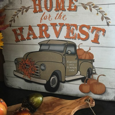 Home For The Harvest, Autumn Vignette For The Counter-top