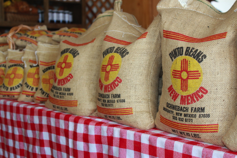 New Mexico Pinto beans in a bag.