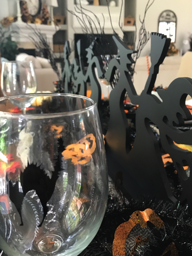 Happy Happy Halloween tablescape.