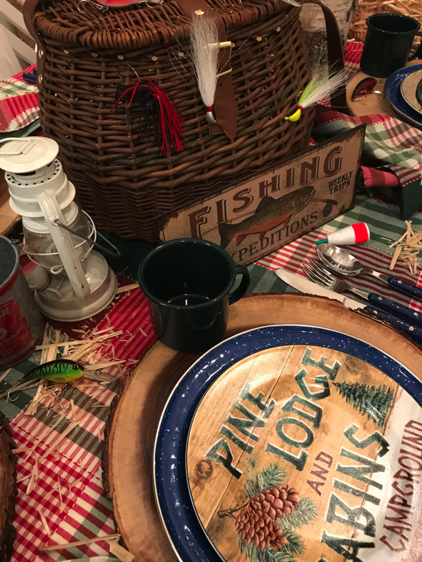 Gone Fishing tablescape.