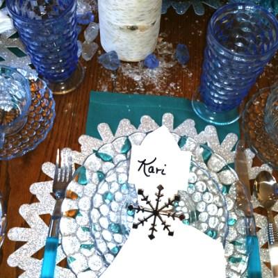 Freezing Weather?  A Frozen Tablescape And A Frozen Menu.