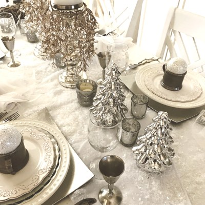 Winter Wonderland Of Silver And White Tablescape!