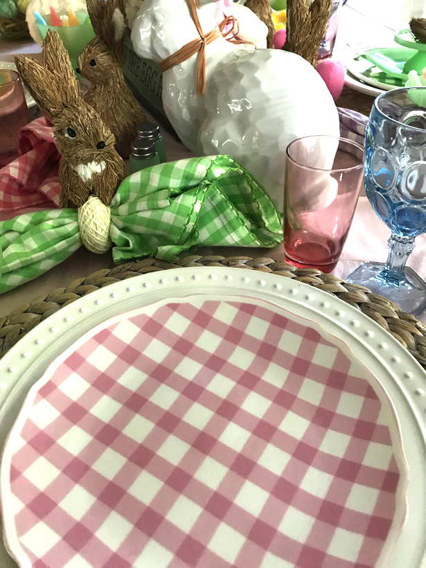 Easter Gingham Tablescape