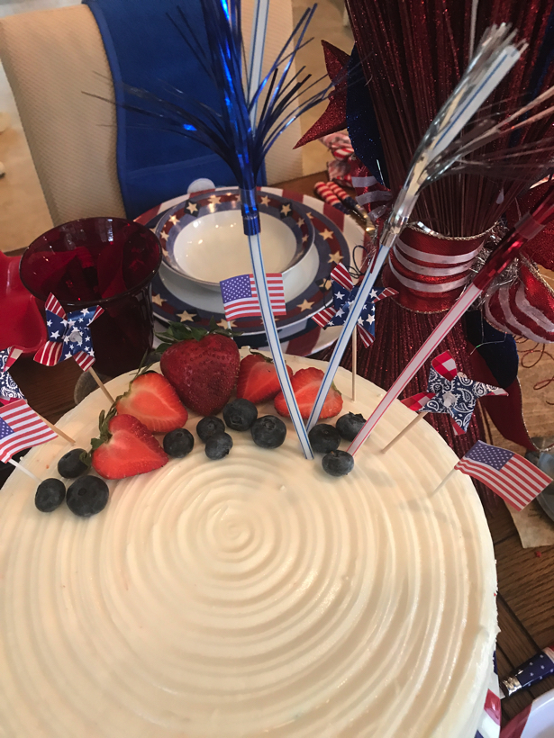 Happy Birthday America Celebrating With A Tablescape And Cake