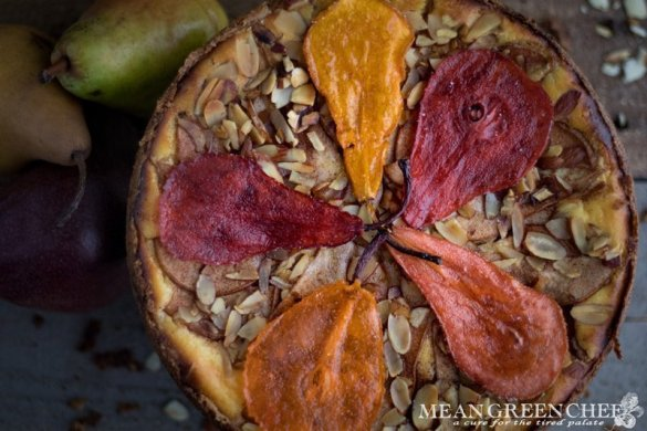 Pear and Almond Torte Recipe | Mean Green Chef