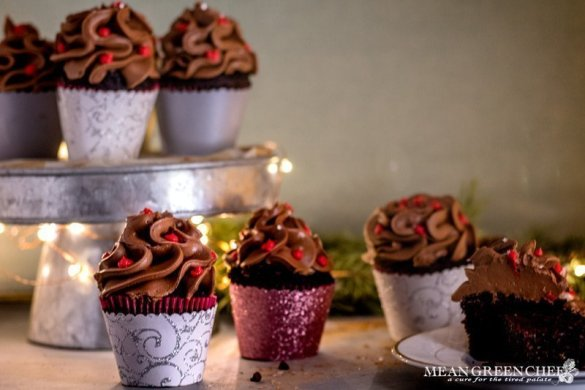 Bakery Style Chocolate Cupcake Recipe | Mean Green Chef