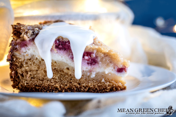 Raspberry Coffee Cake | Mean Green Chef