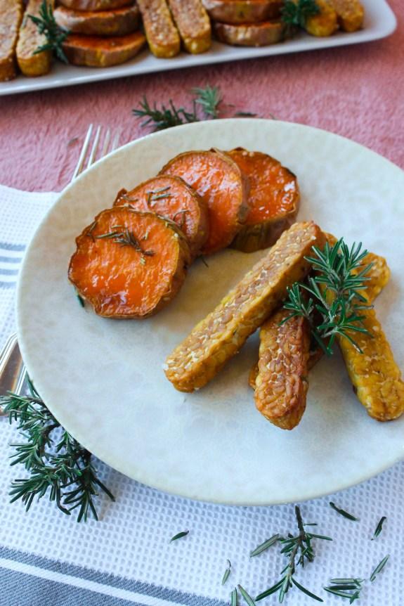Palitinhos de tempeh com batata-doce e alecrim 4