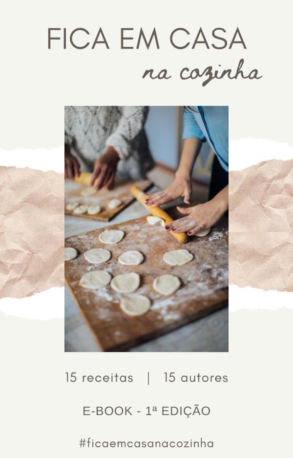 """E-book """"Fica em casa na cozinha"""" - 1ª edição"""