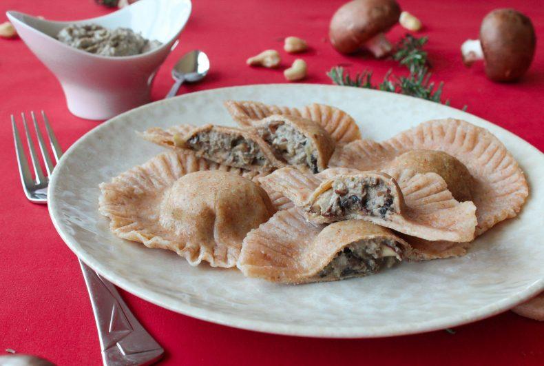 Raviolis desajeitados de cogumelos caju e alecrim 3
