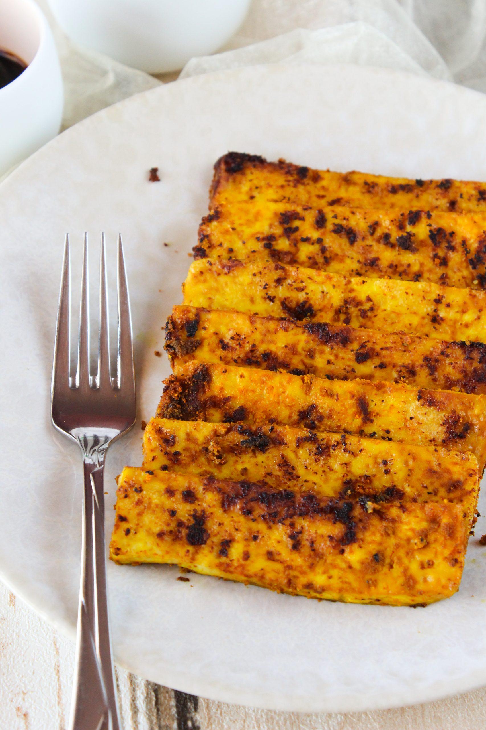 Bifinhos de tofu dourados 4