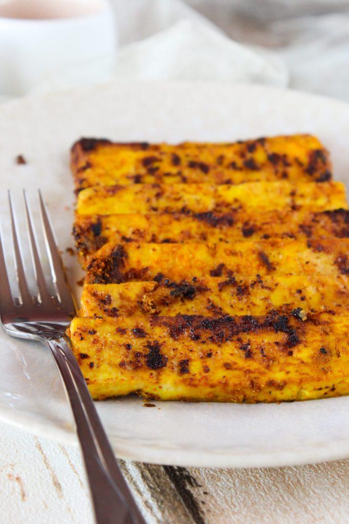 Bifinhos de tofu dourados