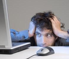 Head meets desk frustrated man