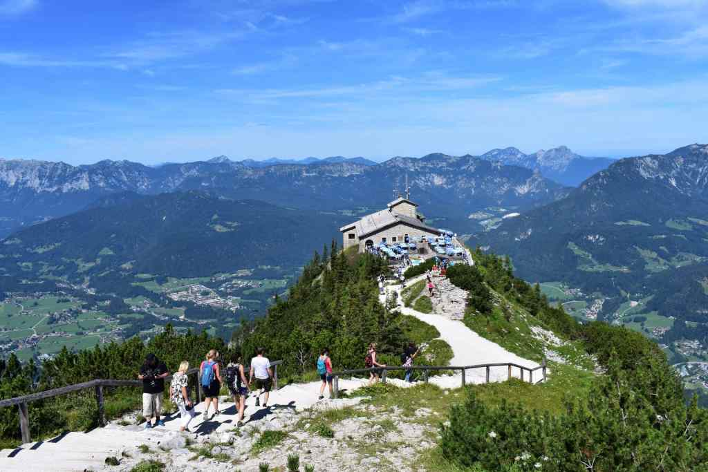 Kehlsteinhaus chateau in Bavarian Alps Germany