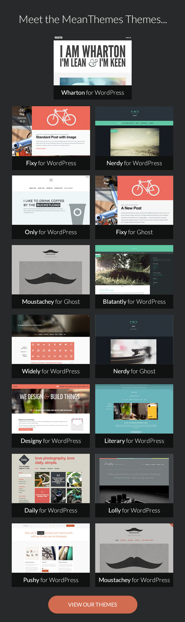 Meet The MeanThemes Themes...