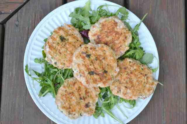 Salmon Burgers Platter