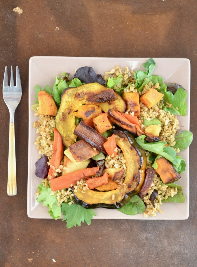Roast Veggies and Freekeh Salad