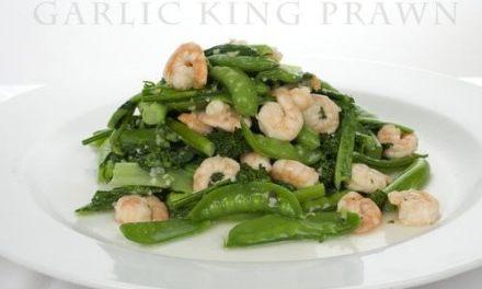 Easy Stir Fried Garlic King Prawn