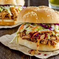 """Texan Pulled Pork Burgers - """"Mouthwatering"""" Texas BBQ Flavored Slow Cooker Recipe"""
