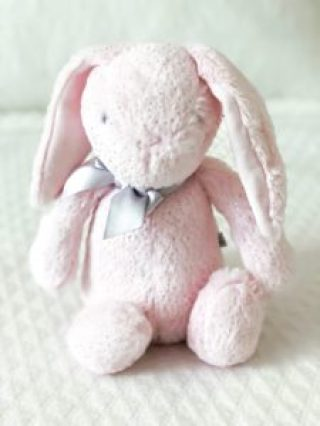 pink stuffed Easter bunny