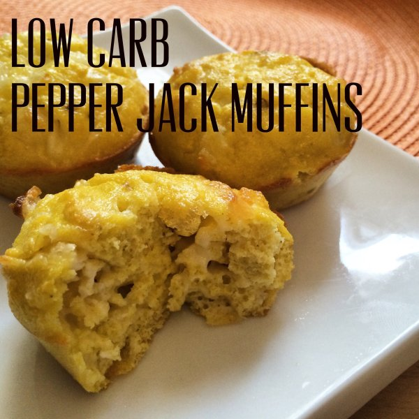 Low Carb Cheesy Pepper Jack Muffins