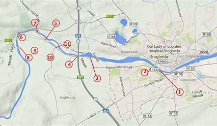 Boyne Greenway map