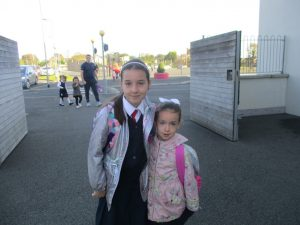 Donacarney Girls little sisters starting school 3