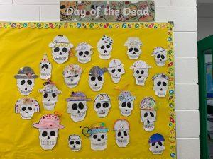 Halloween Art Doncarney Girls School skulls