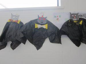 Halloween Art Doncarney Girls School bats