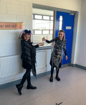 Halloween Art Doncarney Girls School costumes inside