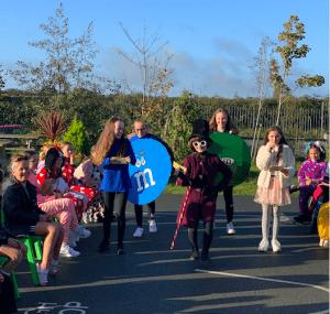 Halloween Art Doncarney Girls School outdoors costumes seven