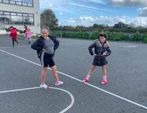Halloween Art Doncarney Girls School outdoors costumes five