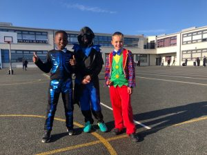 Donacarney Boy's School colourful trio