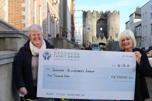 Photo Credit Union Alzheimer's cheque