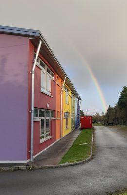 rainbow at Stamullens school