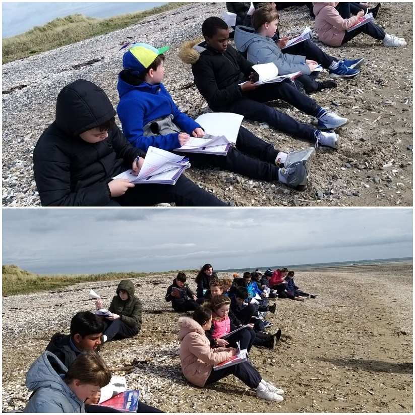 SSN pupils on beach