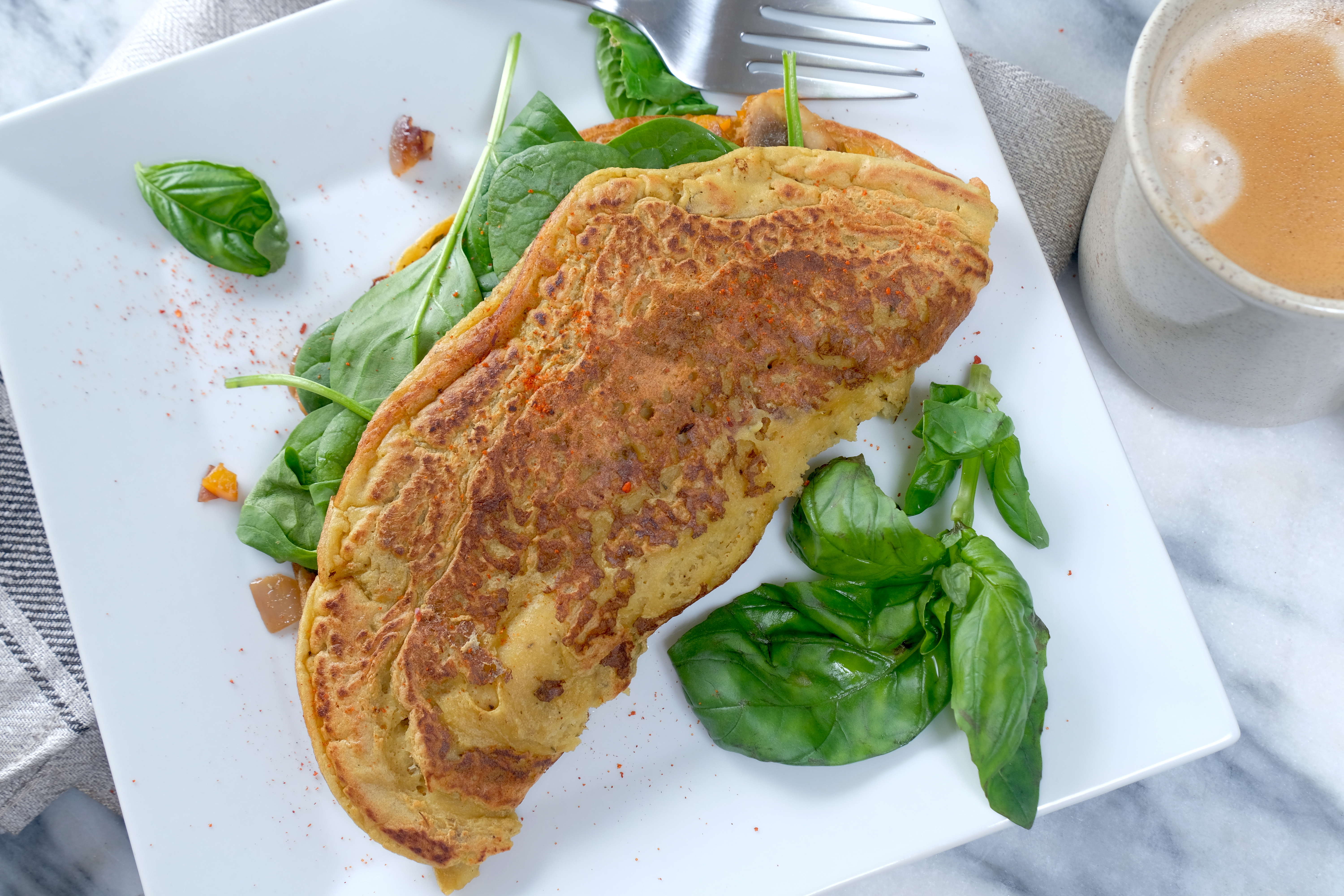 Simple Chickpea Omelet