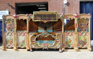 Newly restored 98 key Marenghi organ outside the works.