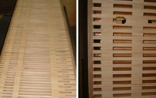 Manufacture of new main chest / soundboard for Gavioli instrument.