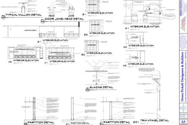 A3 Interior Elevations & Sections