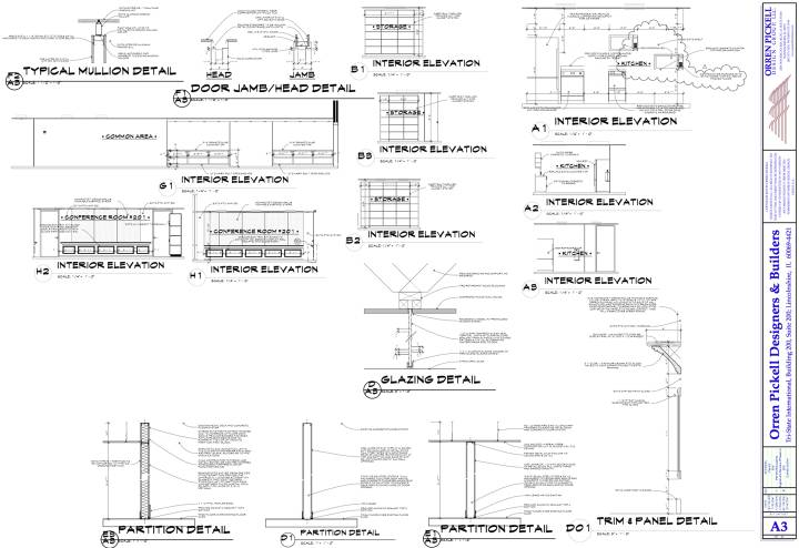 interior elevations & sections