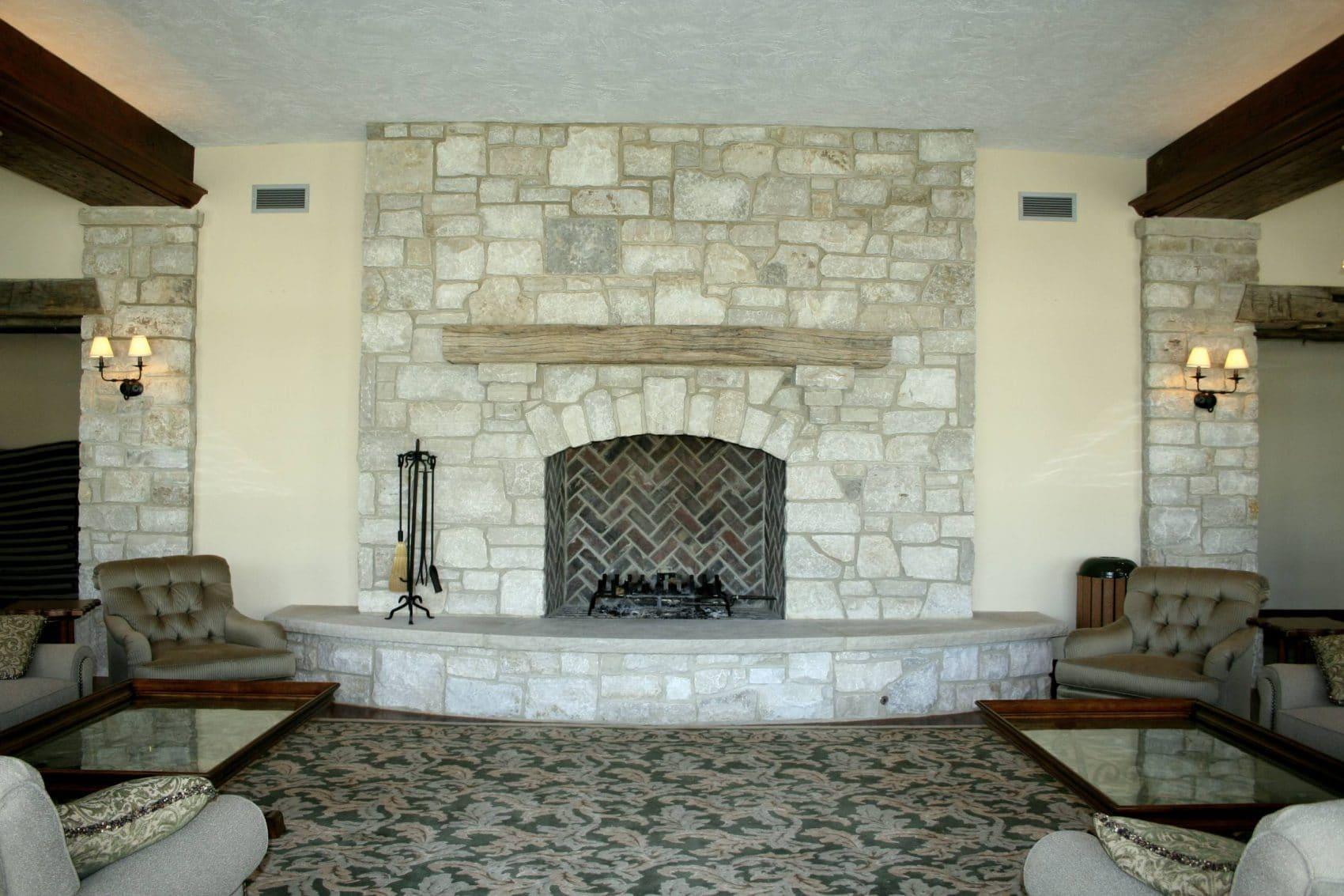 raised hearth fireplace