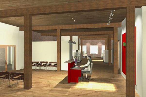 Receptionist Area Rendering