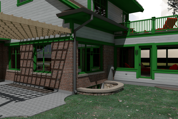 Patio and screen porch