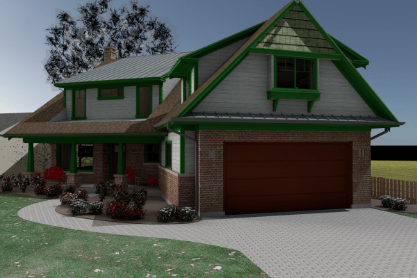 Rendering of Benner Bungalow