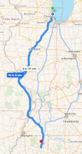 Tupelo MS Route