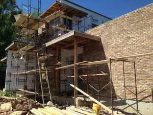 Brick Installation contemporary home