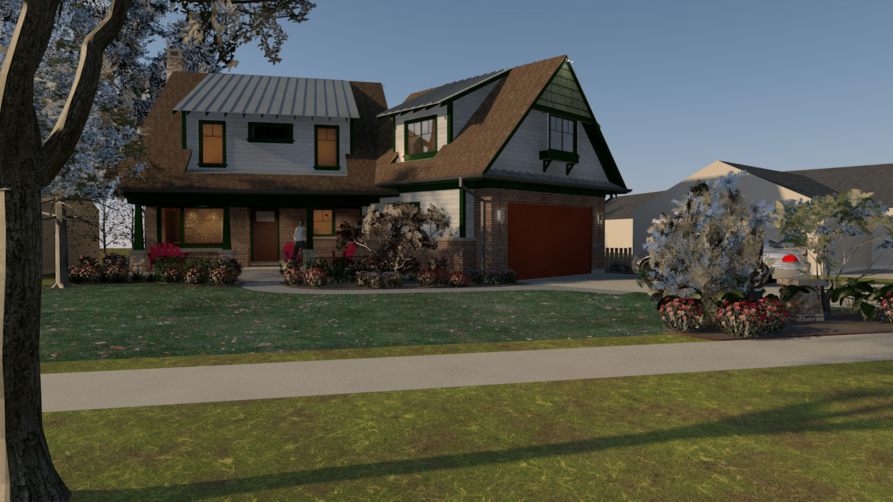 front view from street rendering