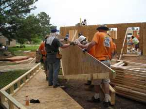 bringing in the gable
